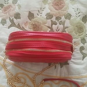 Bags - Faux red leather purse